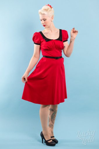 Pinup Couture Dorothy Dress Red Black