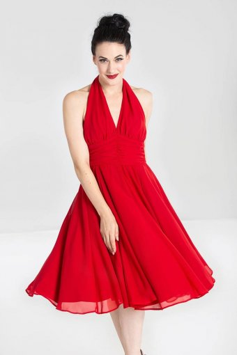 Hellbunny Monroe Vintage Dress Red