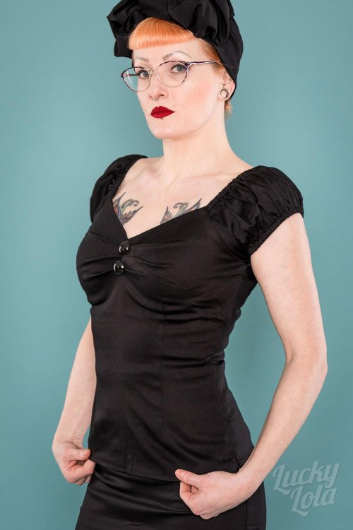 Delores Top black XXXXL