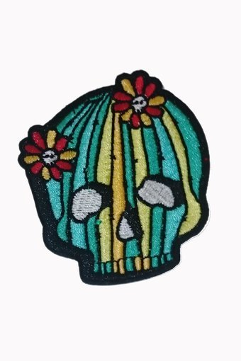Banned Patch Cactus Skull