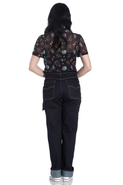 Hellbunny Carpenter Worker High Waisted Jeans