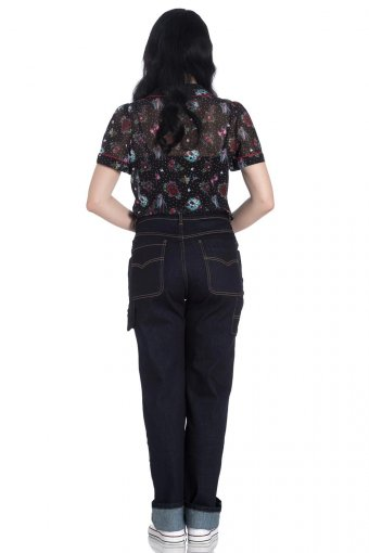 Hellbunny Carpenter Worker High Waisted Jeans XS