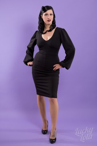 Belsira Vintage Black Flatter Dress XXXL