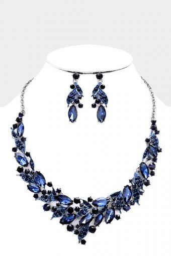 Collier Set Dunkelblau