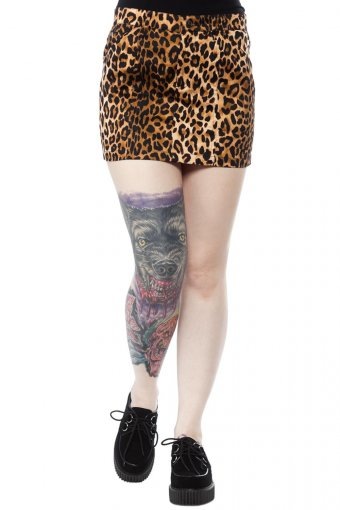 Sourpuss Essential Leoparden Minirock