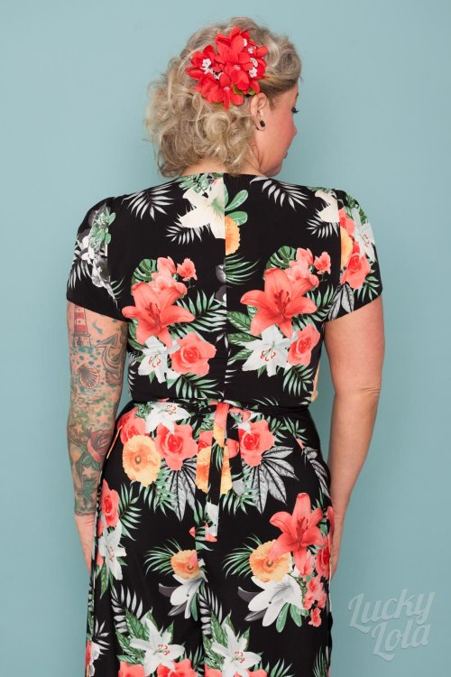 Lucky Lola Bluse Retro Hawaii Nani