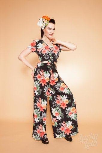 Lucky Lola Bluse Retro Hawaii Nani S