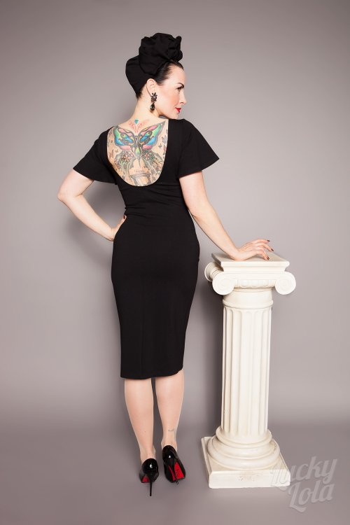 Lucky Lola Merida Flatter Pencil Fitted Kleid XL