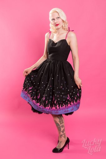 Hellbunny Pinball 50s Flames Kleid L
