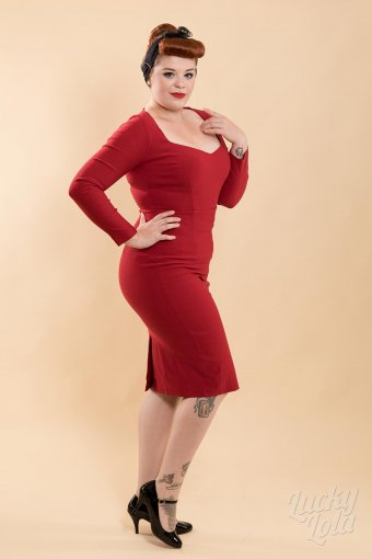 Collectif Helene Pencil Kleid Rot M