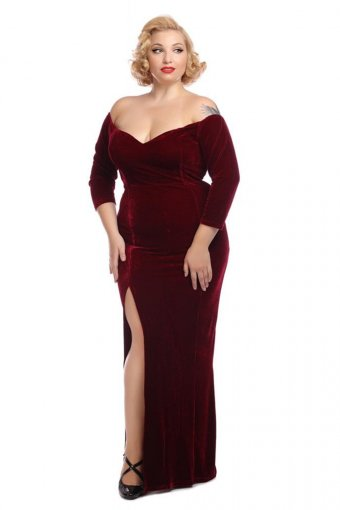 Collectif Angelica Maxi Evening Kleid Bloodred