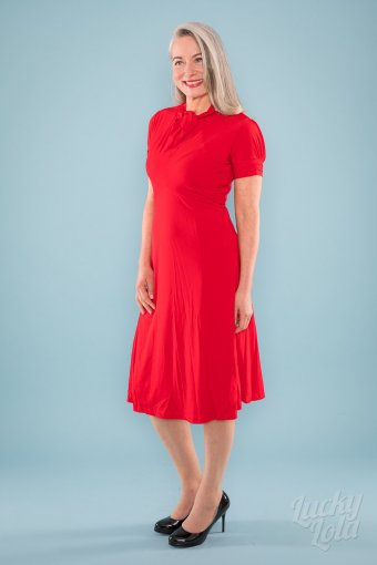 Lindy Bop Amie 50s Cherry Red Kleid