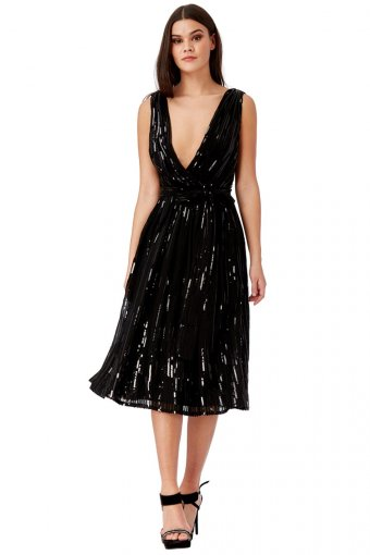 Goddess Sequin Prom Party Kleid