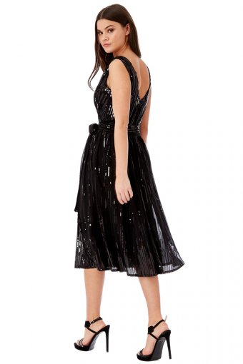Goddess Sequin Prom Party Kleid XS