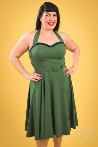 Collectif Beth Fringe Viva Swing Kleid