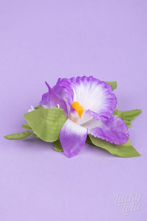 Haarblume Single Orchid lila