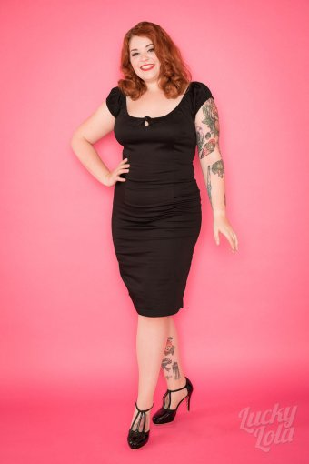 Collectif Lorena Wiggle Dress Black XXL