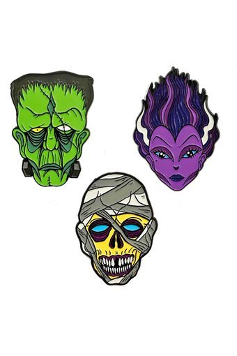 Kreepsville 666 Graves Monster Pin Set